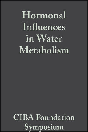 Hormonal Influences in Water Metabolism, Volume 4: Book 2 of Colloquia on Endocrinology