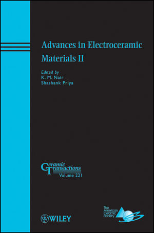 Advances in Electroceramic Materials II: Ceramic Transactions, Volume 221 (047092716X) cover image