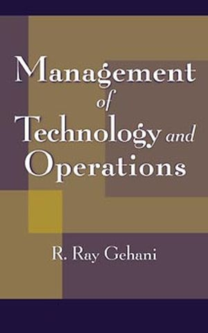 Management of Technology and Operations