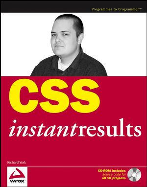 CSS Instant Results (047175126X) cover image