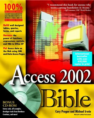 Access 2002 Bible (076453596X) cover image