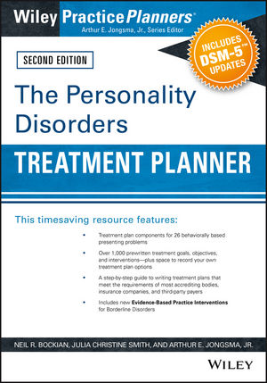 The Personality Disorders Treatment Planner: Includes DSM-5 Updates, 2nd Edition (111910176X) cover image