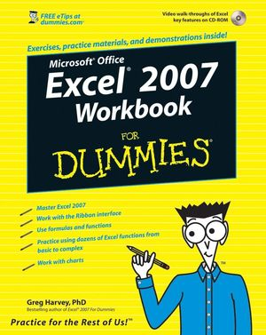Excel 2007 Workbook For Dummies (0470169370) cover image