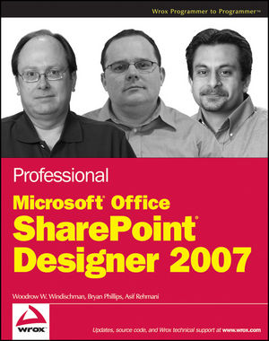 Professional Microsoft Office SharePoint Designer 2007 (0470549270) cover image