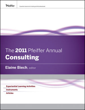 The 2011 Pfeiffer Annual: Consulting (0470592370) cover image