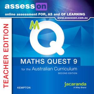 Assesson Maths Quest 9 For The Australian Curriculum Teacher Edition 2E (Online Purchase)
