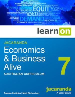Jacaranda Economics & Business Alive 7 Australian Curriculum learnON (Online Purchase)
