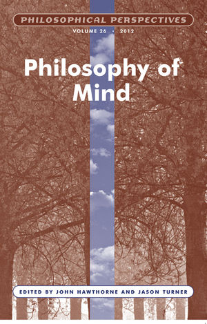 Philosophy of Mind, Volume 26