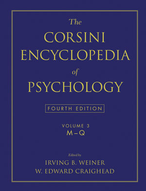 The Corsini Encyclopedia of Psychology, Volume 3, 4th Edition (0470170271) cover image