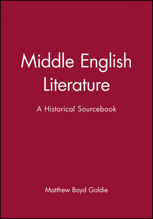 Middle English Literature: A Historical Sourcebook (0631231471) cover image