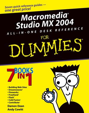 Macromedia Studio MX 2004 All-in-One Desk Reference For Dummies (0764544071) cover image