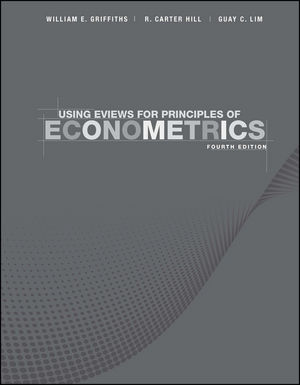 Using EViews for Principles of Econometrics, 4th Edition (1118032071) cover image
