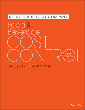 Study Guide to Accompany Food and Beverage Cost Control, 6th Edition (1119061571) cover image