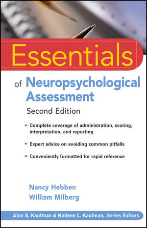 Essentials of Neuropsychological Assessment, 2nd Edition (0470437472) cover image
