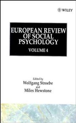 European Review of Social Psychology, Volume 4