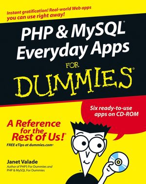 PHP and MySQL Everyday Apps For Dummies (0764575872) cover image