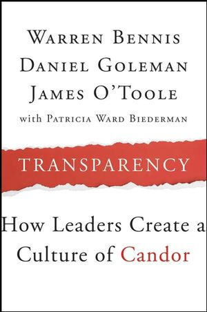Transparency: How Leaders Create a Culture of Candor (1118039572) cover image