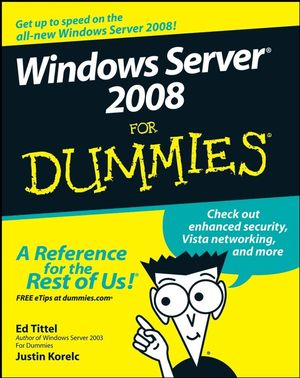 Windows Server 2008 For Dummies (1118052072) cover image