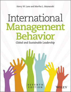 International Management Behavior: Global and Sustainable Leadership, 7th Edition (1118527372) cover image
