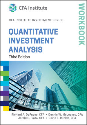 Quantitative Investment Analysis Workbook, 3rd Edition (1119104572) cover image