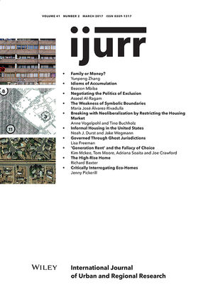 International Journal of Urban and Regional Research, Volume 41 - Issue 2
