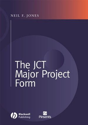 The JCT Major Project Form (1405112972) cover image