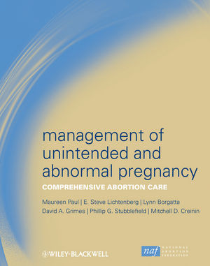 Management of Unintended and Abnormal Pregnancy: Comprehensive Abortion Care  (1444358472) cover image
