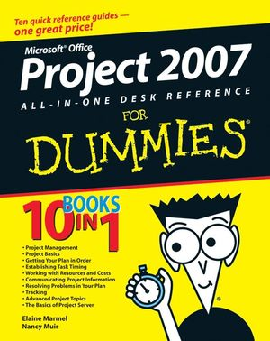 Wiley microsoft office project 2007 all in one desk for For dummies template book cover