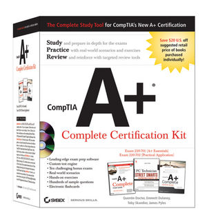 CompTIA A+ Complete Certification Kit(Exams 220-701 and 220-702)  (0470486473) cover image
