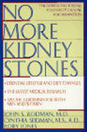 No More Kidney Stones (0471125873) cover image