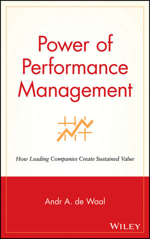 Power of Performance Management: How Leading Companies Create Sustained Value (0471383473) cover image