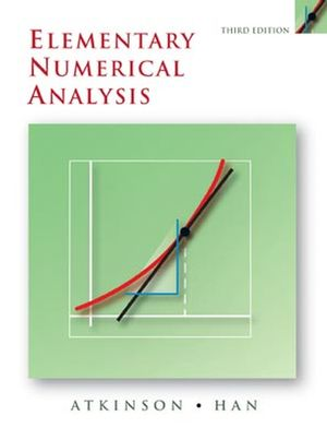 Elementary Numerical Analysis, 3rd Edition (0471433373) cover image