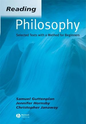Reading Philosophy: Selected Texts with a Method for Beginners (0631234373) cover image