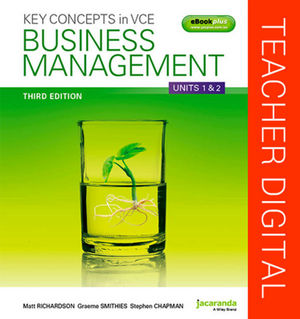 Key Concepts In VCE Business Management Units 1&2 3E eGuidePLUS (Online Purchase)