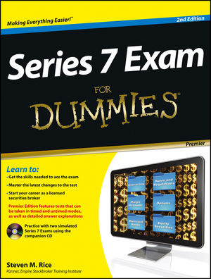 Series 7 Exam For Dummies, Premier 2nd Edition (1118117573) cover image