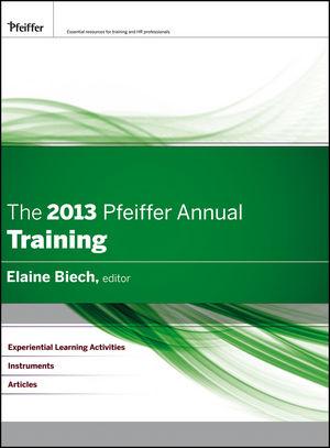 The 2013 Pfeiffer Annual: Training