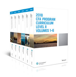 CFA Program Curriculum 2018 Level II, Volumes 1 - 6 Box Set