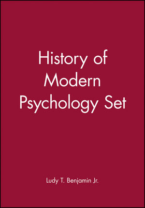 History of Modern Psychology Set (0470442174) cover image