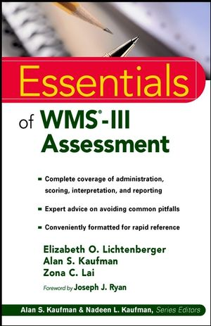 Essentials of WMS-III Assessment