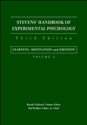Stevens' Handbook of Experimental Psychology, Volume 3, Learning, Motivation, and Emotion, 3rd Edition