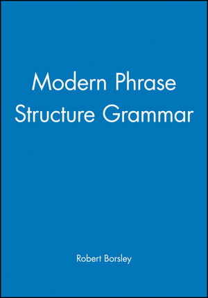 Modern Phrase Structure Grammar (0631184074) cover image