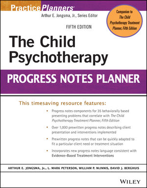 Wiley: The Child Psychotherapy Progress Notes Planner, 5th Edition ...