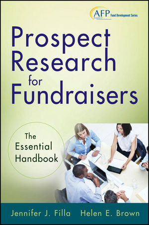 Prospect Research for Fundraisers: The Essential Handbook (1118421574) cover image