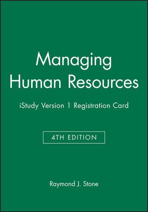 Managing Human Resources 4e iStudy Version 1 Registration Card