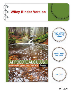 Applied Calculus 5E WileyPLUS with Loose-Leaf Print Companion with WileyPLUS Card Set