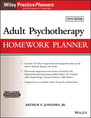 Adult Psychotherapy Homework Planner, 5th Edition