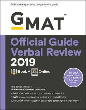 GMAT Official Guide 2019 Verbal Review: Book + Online