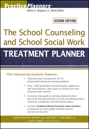 The School Counseling and School Social Work Treatment Planner, 2nd Edition (0470618175) cover image