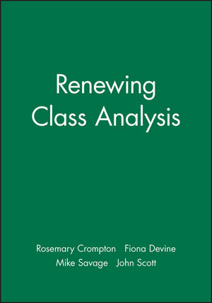 Renewing Class Analysis (0631221875) cover image