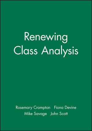 Renewing Class Analysis